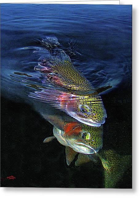 Trout Photograph Greeting Cards - Sole Mates Greeting Card by Brian Pelkey