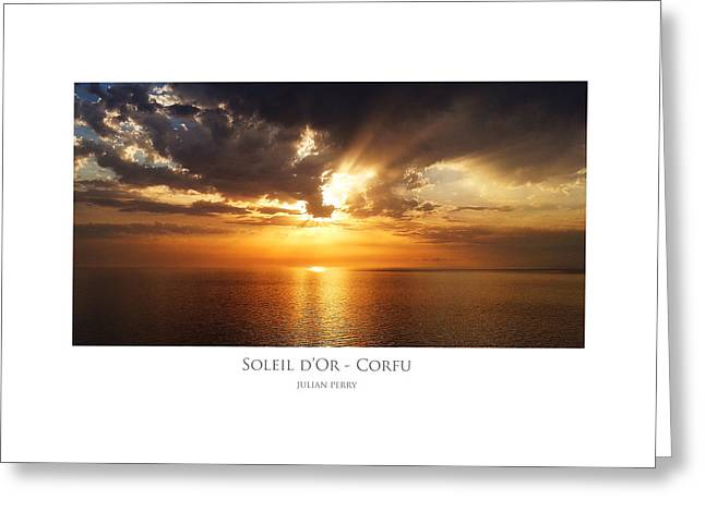 Soleil D'or - Corfu Greeting Card