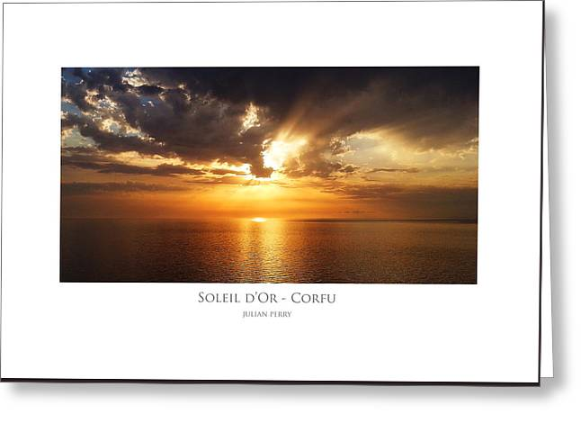 Soleil D'or - Corfu Greeting Card
