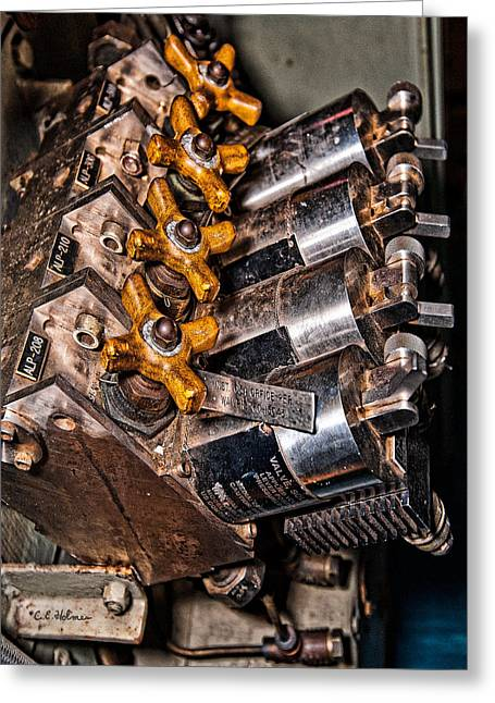 Solenoid Valves Greeting Card by Christopher Holmes