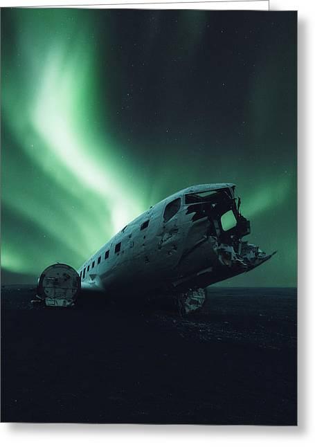 Solheimsandur Crash Site Greeting Card by Tor-Ivar Naess