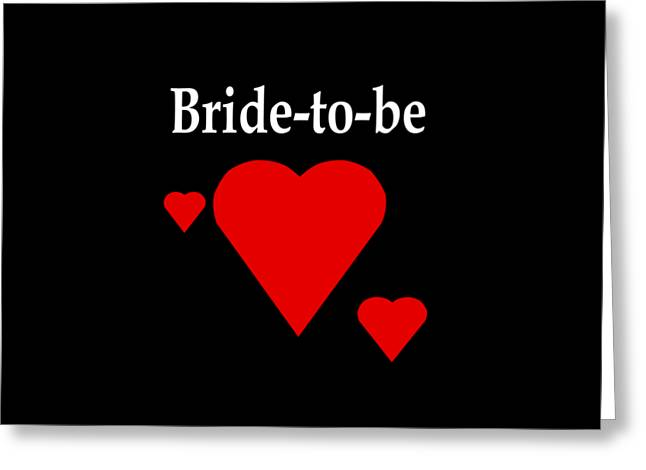 Solid Hearts Bride-to-be Greeting Card
