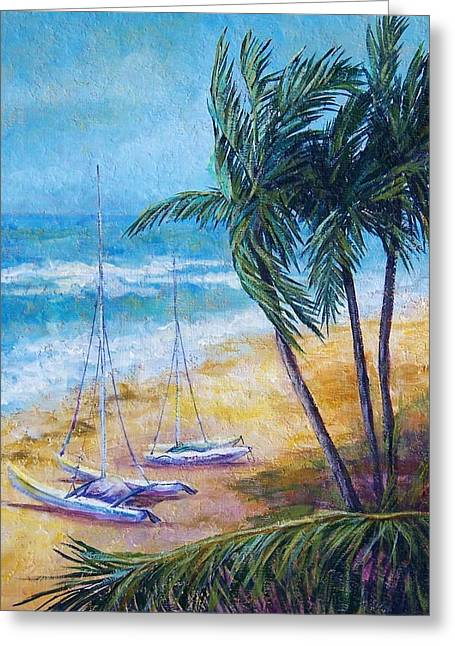Soliman Bay Greeting Card by Candy Mayer