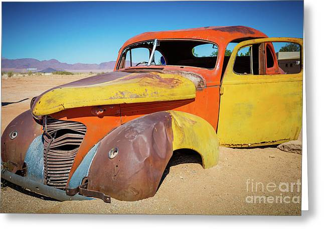 Solitaire Auto Greeting Card by Inge Johnsson