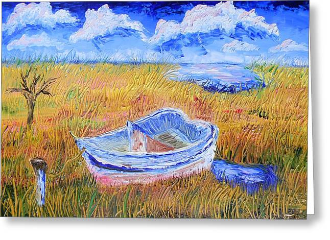 Solitary Boat  Greeting Card by Warren Thompson