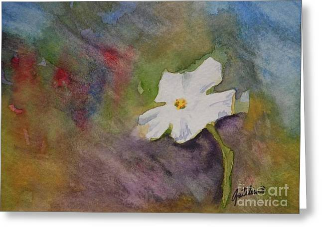 Solitary Flower Greeting Card by Gretchen Bjornson