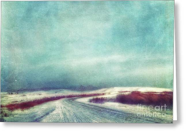 Solitary Journey Greeting Card by Priska Wettstein