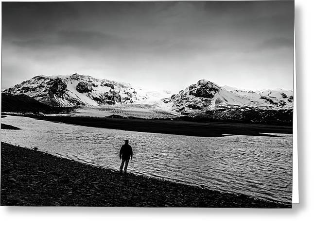 Solitary Man Greeting Card by Gary Fossaceca