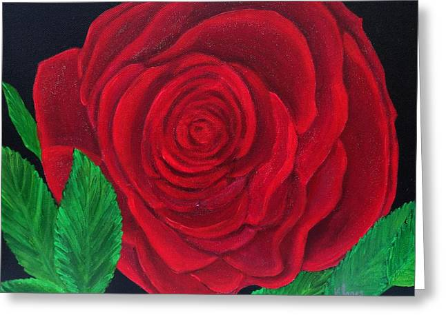 Solitary Red Rose Greeting Card
