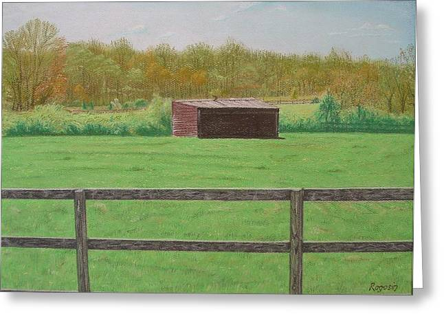 Solitary Shed Greeting Card