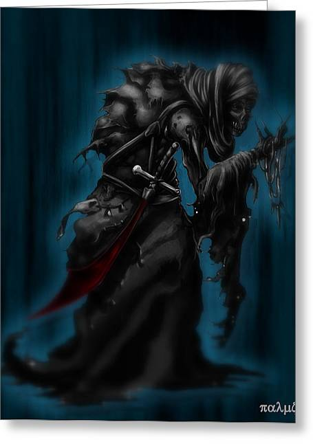 Solitiary Reaper Greeting Card by Rahul Chakraborty