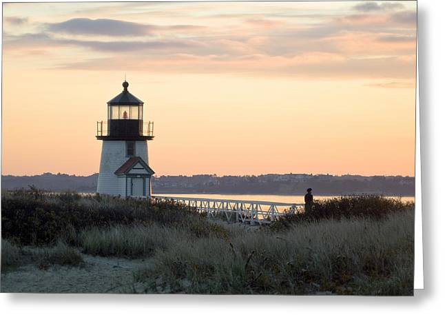 Solitude At Brant Point Light Nantucket Greeting Card