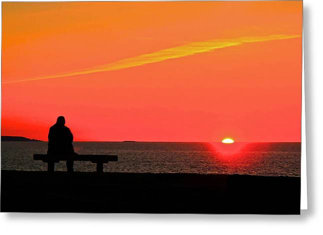 Solitude At Sunrise Greeting Card