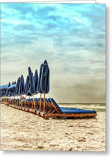 Solitude At The Beach  Greeting Card by Debra Forand