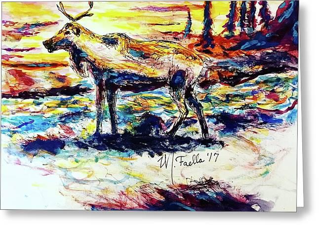 Solitude Caribou Greeting Card