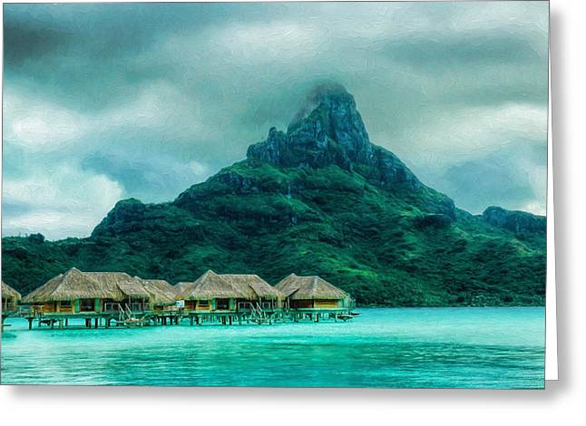 Solitude In Bora Bora Greeting Card
