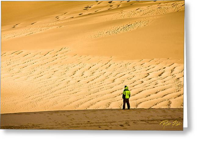 Greeting Card featuring the photograph Solitude In The Dunes by Rikk Flohr