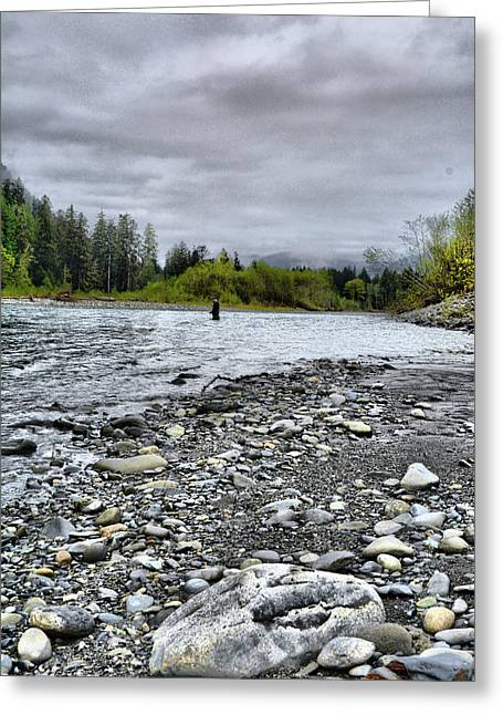 Solitude On The River Greeting Card