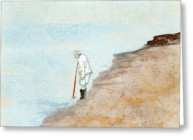 Solitude On The Shoreline Greeting Card
