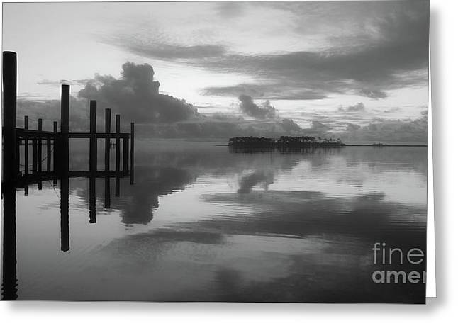 Solitude Reflected At Sunrise Greeting Card by Benanne Stiens