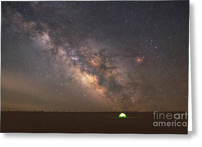 Solitude Under The Stars  Greeting Card by Michael Ver Sprill