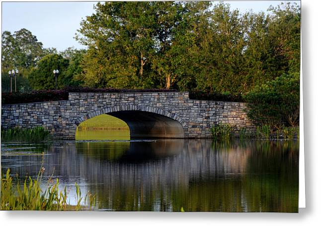 Solivita Stone Bridge Greeting Card by Lyle  Huisken