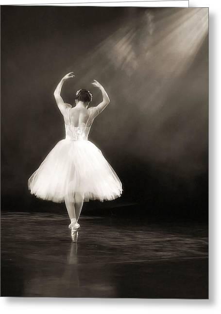 Tutu Digital Art Greeting Cards - Solo Ballerina Greeting Card by Kenneth Mucke