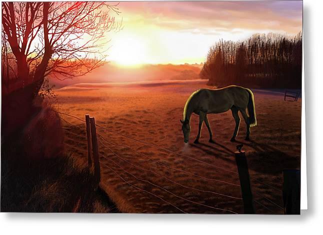 Solstice Sunrise Greeting Card