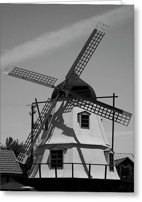 Solvang Windmill Greeting Card by Ivete Basso Photography