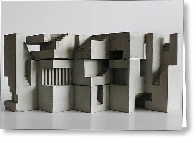 Soma Structure 7 Greeting Card by David Umemoto