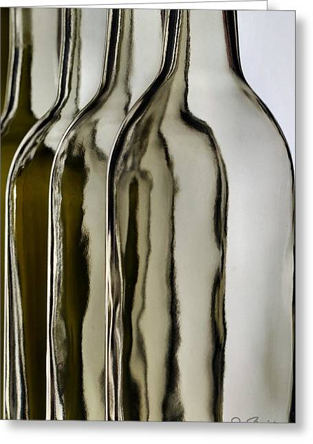 Somber Bottles Greeting Card by Joe Bonita