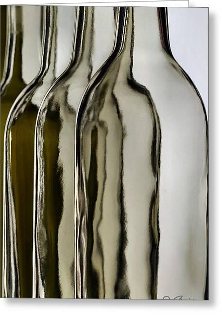Somber Bottles Greeting Card