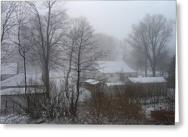 Somber February Morn At A Palenville Homestead Greeting Card by Terrance DePietro