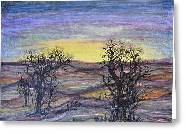 Somber Landscape Greeting Card by Regina Valluzzi