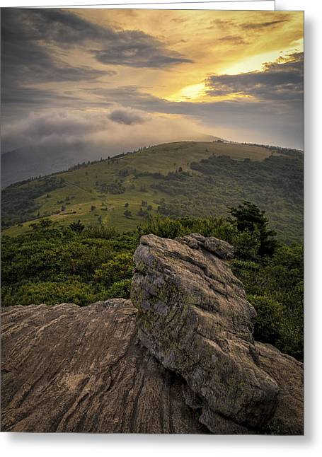 Rocky Sunset - Roan Mountain Greeting Card