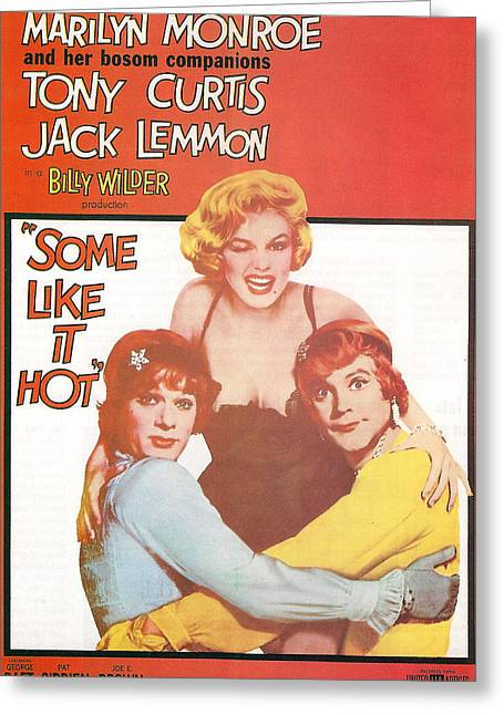 Some Like It Hot Greeting Card by Georgia Fowler