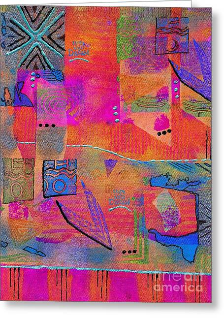 Survivor Art Greeting Cards - Some of Us DREAM in Color Greeting Card by Angela L Walker