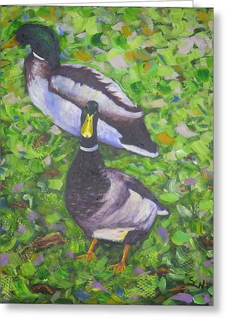 Somerset Ducks Greeting Card