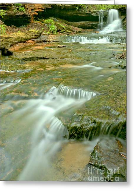 Somerset Pa Cave Falls Portrait Greeting Card