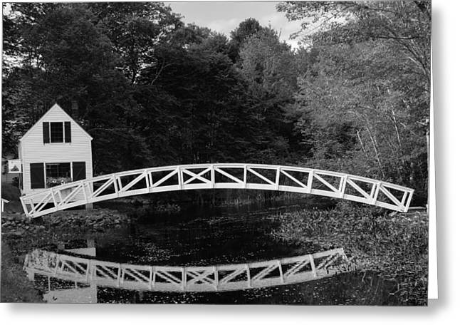 Somesville Bridge In Acadia National Park Greeting Card