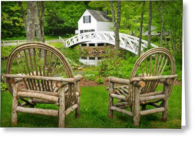 Somesville Maine - Arched Bridge Greeting Card