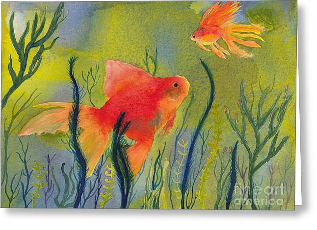 Something Fishy Going On Greeting Card