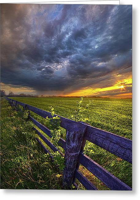 Sometime Between Then And Now Greeting Card by Phil Koch