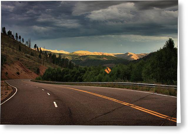 Sometime Life Throws You Curves, Enjoy The Ride Greeting Card by Brian Gustafson