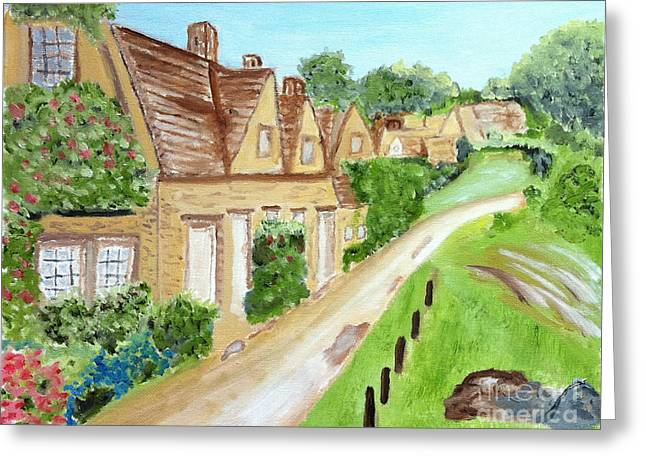 Somewhere In Cotswolds South West England Greeting Card