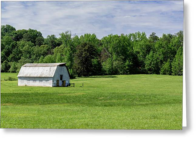 Barn In Green Pasture Greeting Card