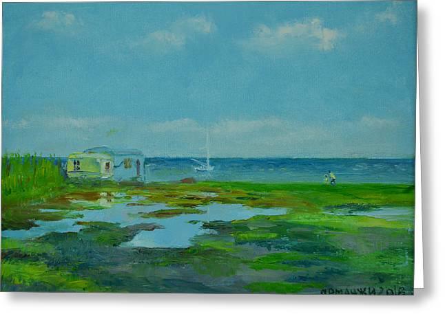 Somewhere On Azov Sea... Greeting Card by Ivan Ormanzhi