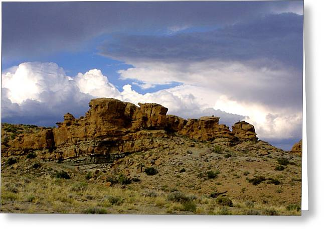 Somewhere Out West Greeting Card by Ralph  Perdomo