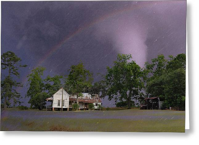 Somewhere Over The Rainbow Greeting Card by Jan Amiss Photography