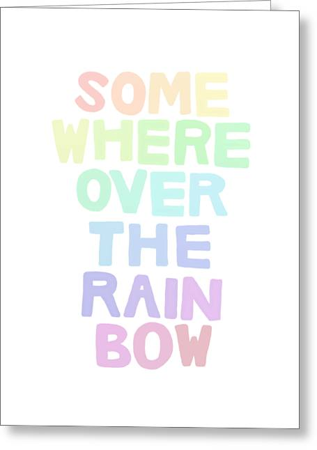 Somewhere Over The Rainbow Greeting Card by Priscilla Wolfe